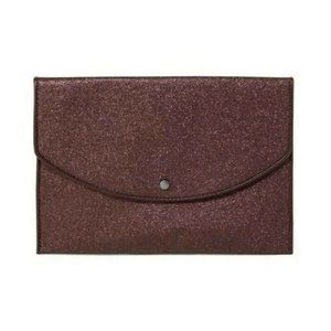 A New Day Envelope Clutch Purse Burgundy NEW NWT